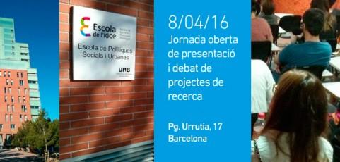 Jornada de presentació i debat projectes de Recerca