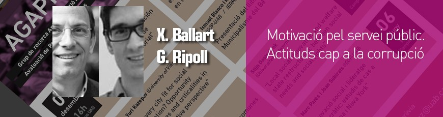 Seminario Xavier Ballart y Guillem Ripoll – 17 Octubre