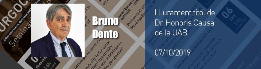 Lliurament del títol de Dr. Honoris Causa a Bruno Dente